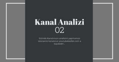Youtube Kanal Analizi 02